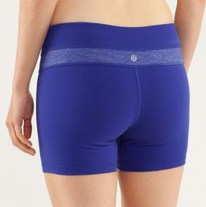 Lululemon Reverse Groove Shorts In Pigment Blue